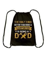 A carpenter and a dad Drawstring Bag thumbnail