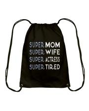 Super Actress Mom Drawstring Bag thumbnail