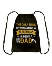 An electrician and a dad Drawstring Bag thumbnail