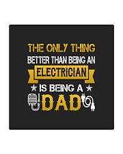 An electrician and a dad Square Coaster thumbnail