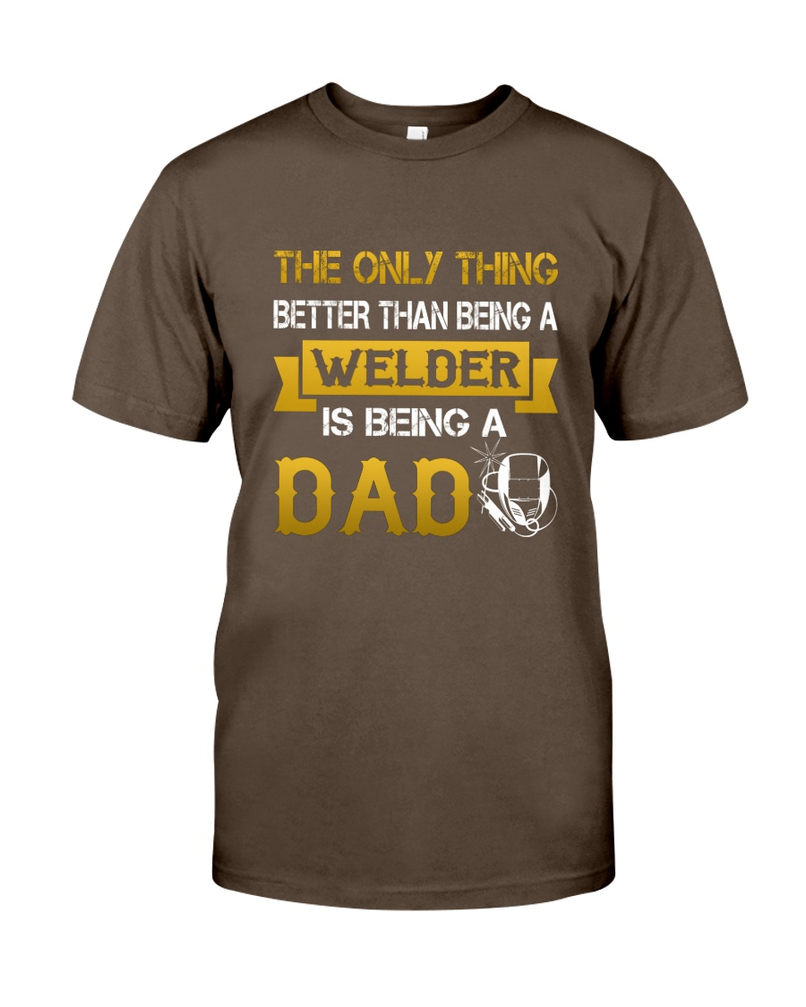 A Welder and a dad Premium Fit Mens Tee