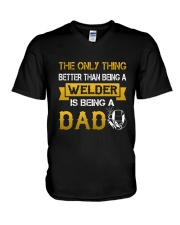 A Welder and a dad V-Neck T-Shirt thumbnail
