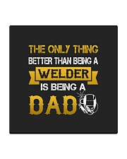 A Welder and a dad Square Coaster thumbnail