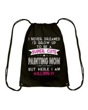 SUPER CUTE A PAINTING MOM Drawstring Bag thumbnail