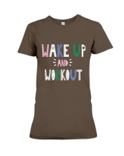 Wake up and workout Premium Fit Ladies Tee front