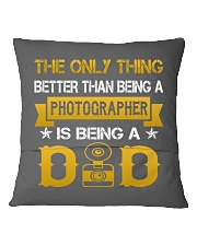 A photographer and a dad Square Pillowcase back