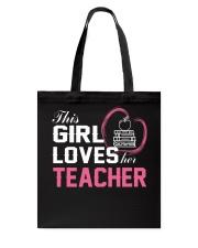 Loves Her Teacher Tote Bag thumbnail
