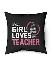 "Loves Her Teacher Indoor Pillow - 16"" x 16"" thumbnail"