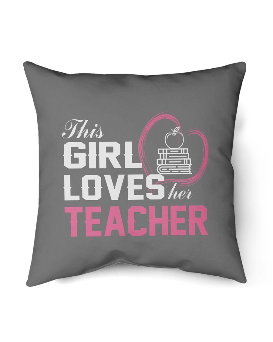 """Loves Her Teacher Indoor Pillow - 16"""" x 16"""""""
