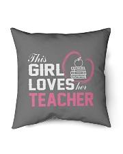 """Loves Her Teacher Indoor Pillow - 16"""" x 16"""" front"""