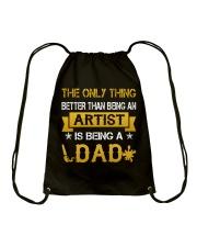 An artist and a dad Drawstring Bag thumbnail