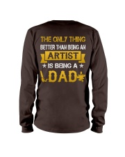 An artist and a dad Long Sleeve Tee back