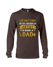 An artist and a dad Long Sleeve Tee front