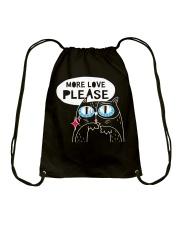 More love please Drawstring Bag thumbnail