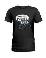 More love please Ladies T-Shirt thumbnail