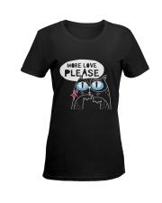 More love please Ladies T-Shirt women-premium-crewneck-shirt-front