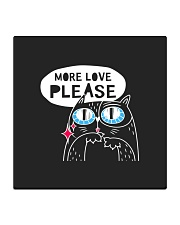 More love please Square Coaster front