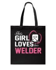 Loves Her Welder Tote Bag tile