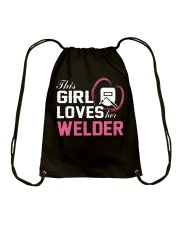 Loves Her Welder Drawstring Bag tile