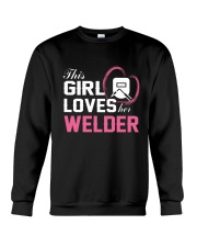 Loves Her Welder Crewneck Sweatshirt thumbnail