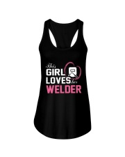 Loves Her Welder Ladies Flowy Tank tile