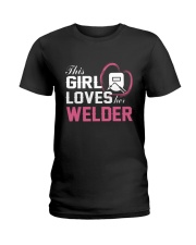 Loves Her Welder Ladies T-Shirt tile