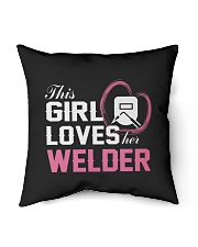 Loves Her Welder Indoor Pillow tile
