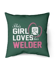"Loves Her Welder Indoor Pillow - 16"" x 16"" back"