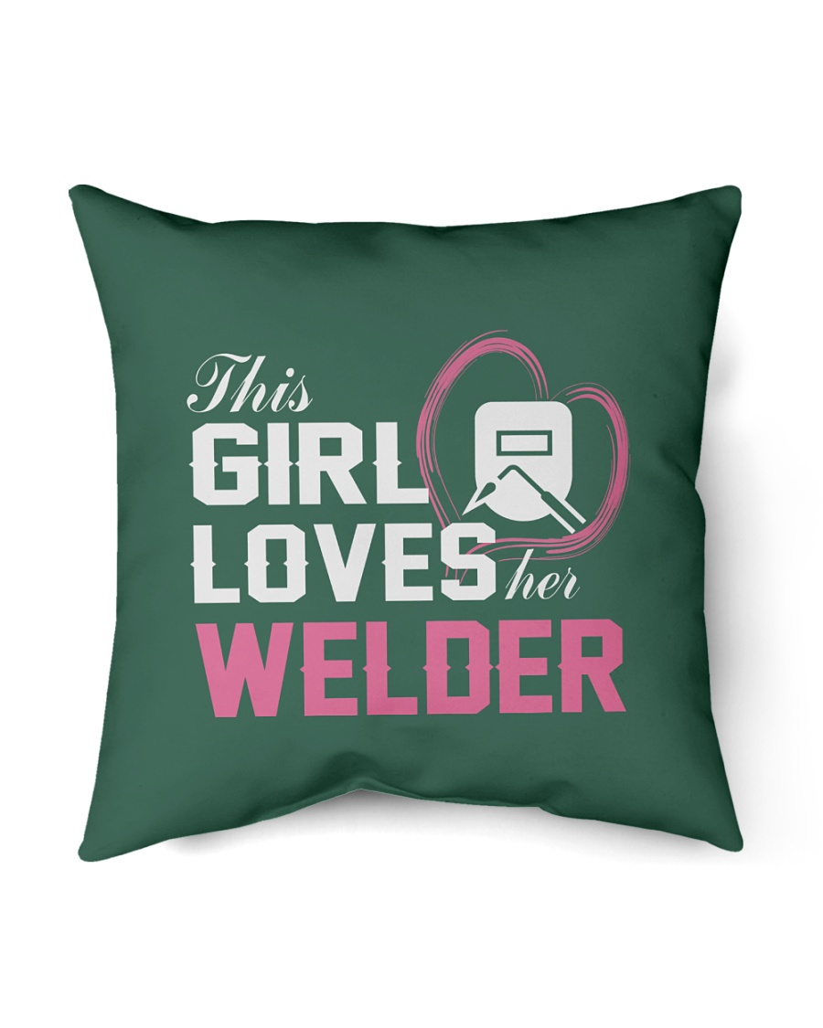 "Loves Her Welder Indoor Pillow - 16"" x 16"""