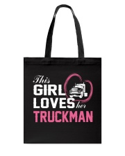 Loves Her Truckman Tote Bag thumbnail