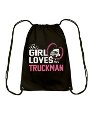 Loves Her Truckman Drawstring Bag thumbnail