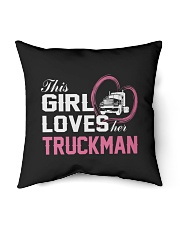 "Loves Her Truckman Indoor Pillow - 16"" x 16"" thumbnail"