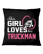 Loves Her Truckman Square Pillowcase thumbnail