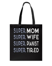Super Pianist Mom Tote Bag back