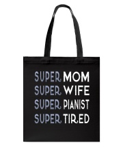 Super Pianist Mom Tote Bag front