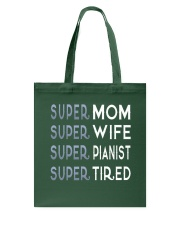 Super Pianist Mom Tote Bag thumbnail