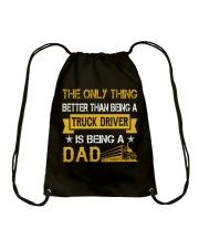 A truck driver and a dad Drawstring Bag thumbnail