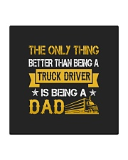 A truck driver and a dad Square Coaster thumbnail
