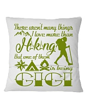 Hiking Gigi Square Pillowcase back