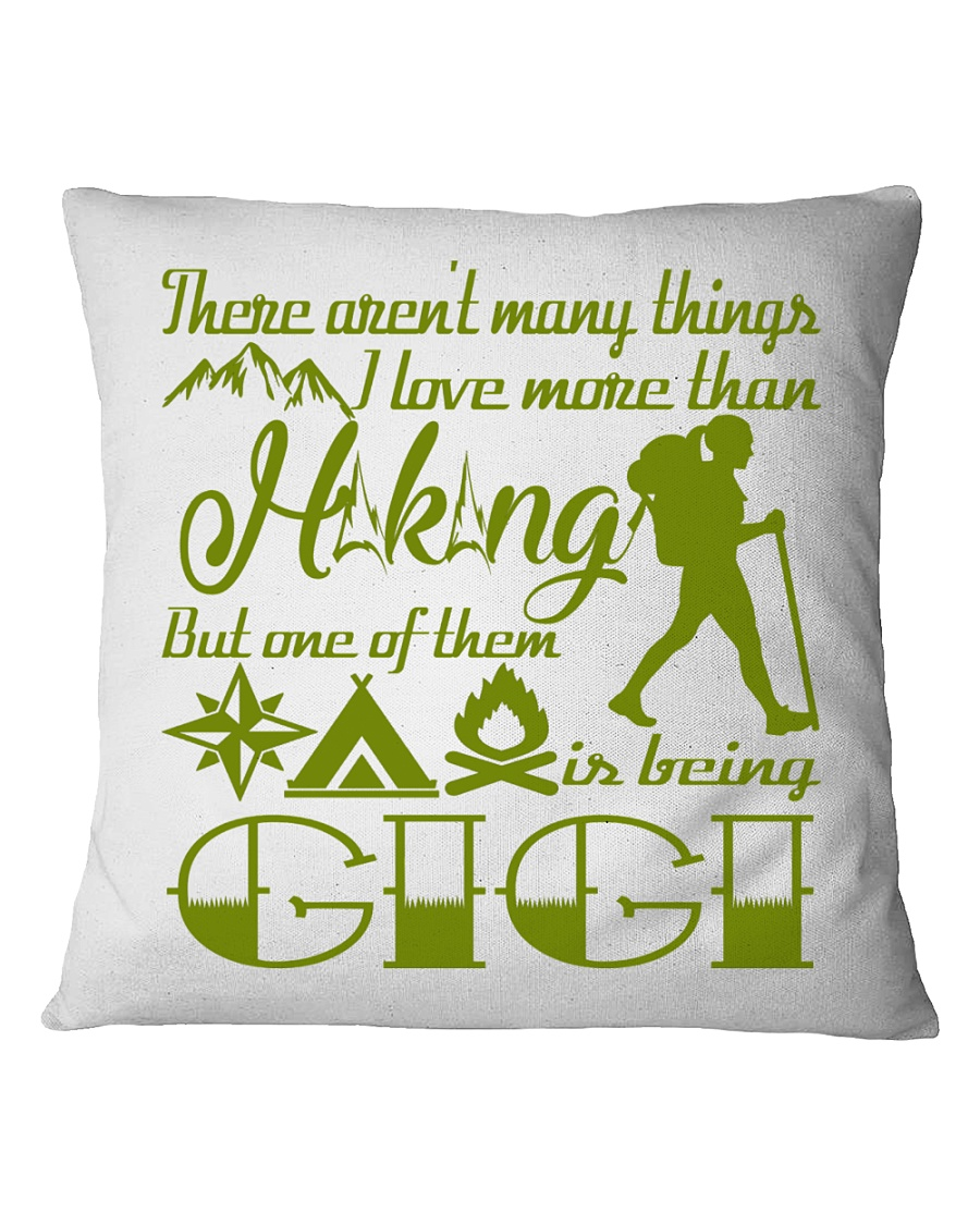 Hiking Gigi Square Pillowcase