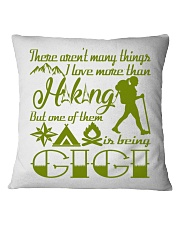 Hiking Gigi Square Pillowcase front