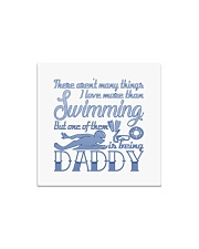 Swimming Daddy Square Magnet thumbnail