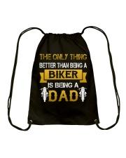 A Biker and a Dad Drawstring Bag thumbnail