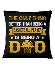A basketball player and a dad Square Pillowcase front