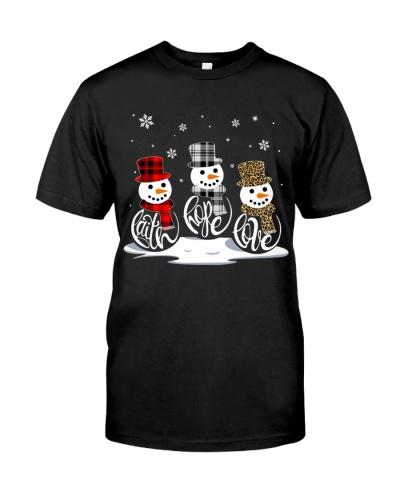 Faith Hope Love Snowman