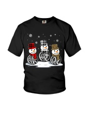 Faith Hope Love Snowman Youth T-Shirt thumbnail