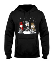 Faith Hope Love Snowman Hooded Sweatshirt thumbnail