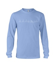 White line cropduster heartbeat Long Sleeve Tee thumbnail