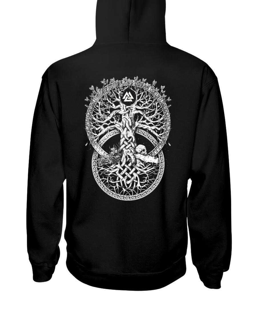 Yygdrasil Valknut - Viking Shirt Hooded Sweatshirt