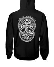 Yygdrasil Valknut - Viking Shirt Hooded Sweatshirt back